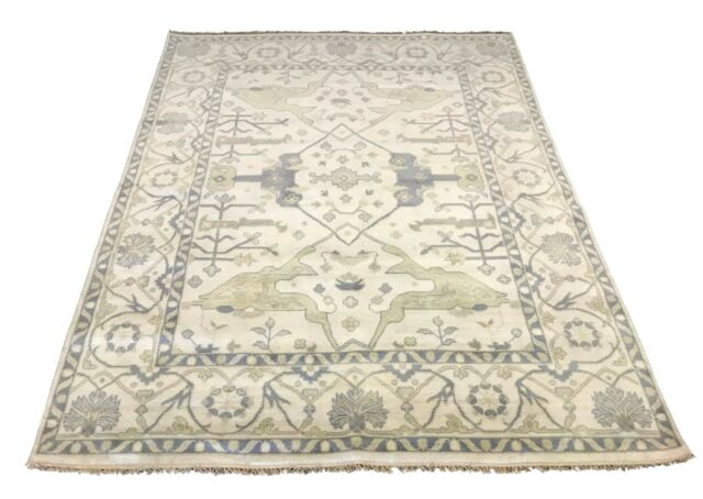 Ivory Ziegler Oushak Oriental Area Rug Hand Knotted Dining Room Wool Carpet 8x10 For Sale Online Ebay
