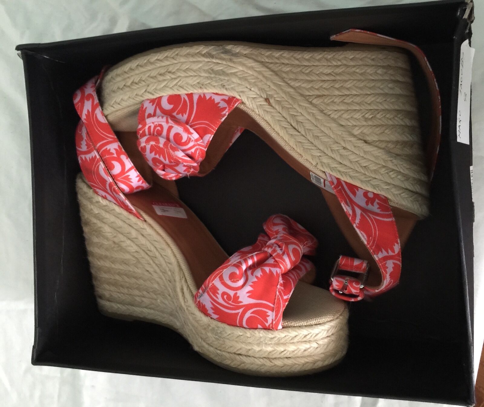 MARC JACOBS CHERRY WOMEN'S FLORAL WEDGES SIZE10 NEW RETAIL  228