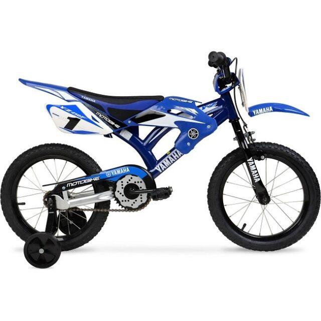 Bmx Motocross 16 Moto Yamaha Boys Style Bike Kids Bicycle Blue