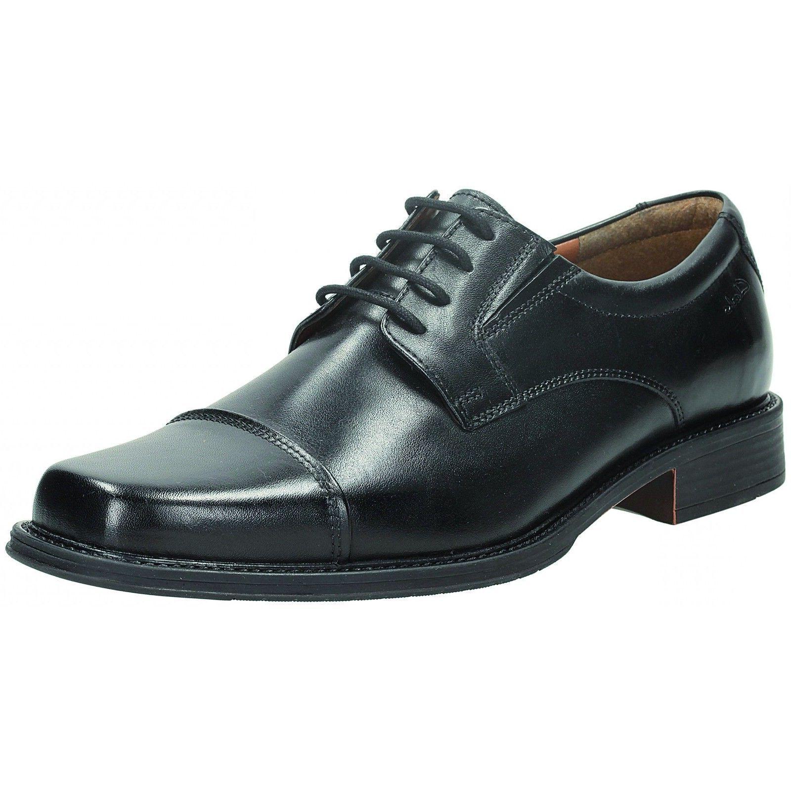 Clarks Driggs Kappe Herren Schwarzes Leder Schuhe