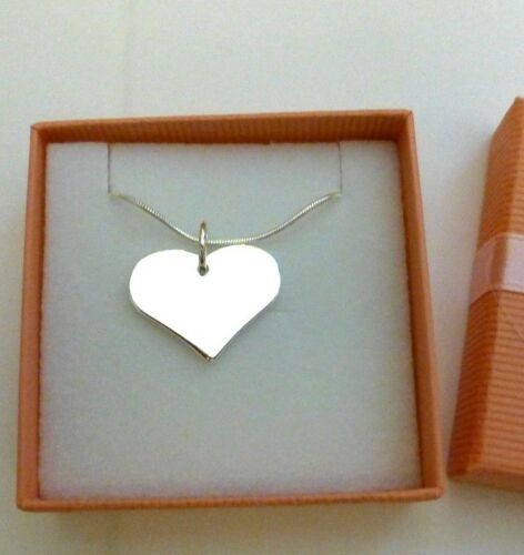 Silver Heart Necklace in Gift Box for Bridesmaid Flower Girl Birthday Valentines