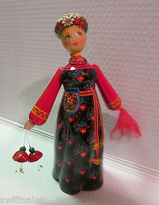 "New ""Russian Matryoshka"" Hand-Made Linden Wood Doll - #19"
