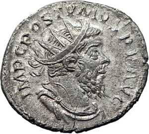 POSTUMUS-260AD-Silver-Authentic-Ancient-Roman-Coin-Providentia-i65350