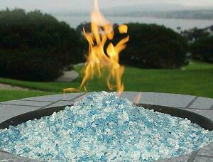 Fire Pit Glass Rocks For Outdoor Propane Gas Fireplace Crystals