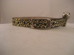 LEATHER-GOLD-BROWN-CAT-COLLAR