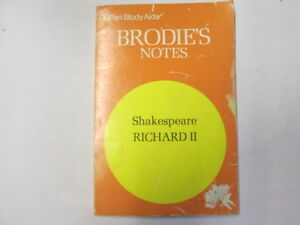 Acceptable-Brodie-039-s-Notes-on-Shakespeare-King-Richard-II-Carrington-Norman