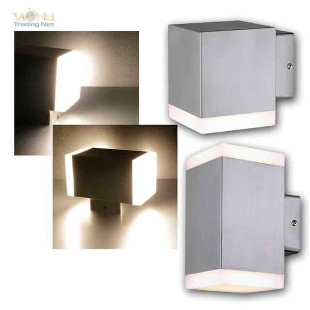 LED Außen-Wand-Leuchte CEDROS Edelstahl gebürstet 1/2-flammig warmweiß 230V IP44