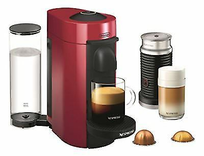 Nespresso greenuoPlus Coffee & Espresso Maker Bundle with Aeroccino Milk Fredher