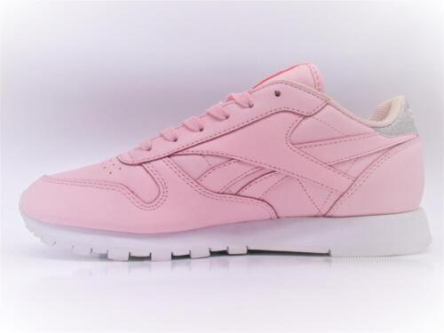 Damen Reebok Cl Lthr met Diamant pink Leder Turnschuhe bs8892