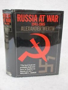 Alexander Werth RUSSIA AT WAR  1941-1945 Dutton 4th Printing 1966 HC/DJ