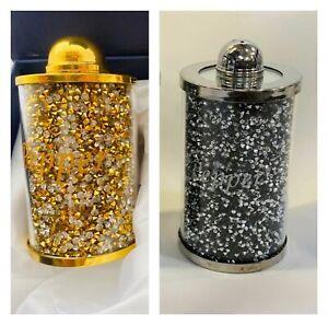 Sparkle Gold Diamond Crushed Crystal Decorative Salt /& Pepper Shakers Set NEW