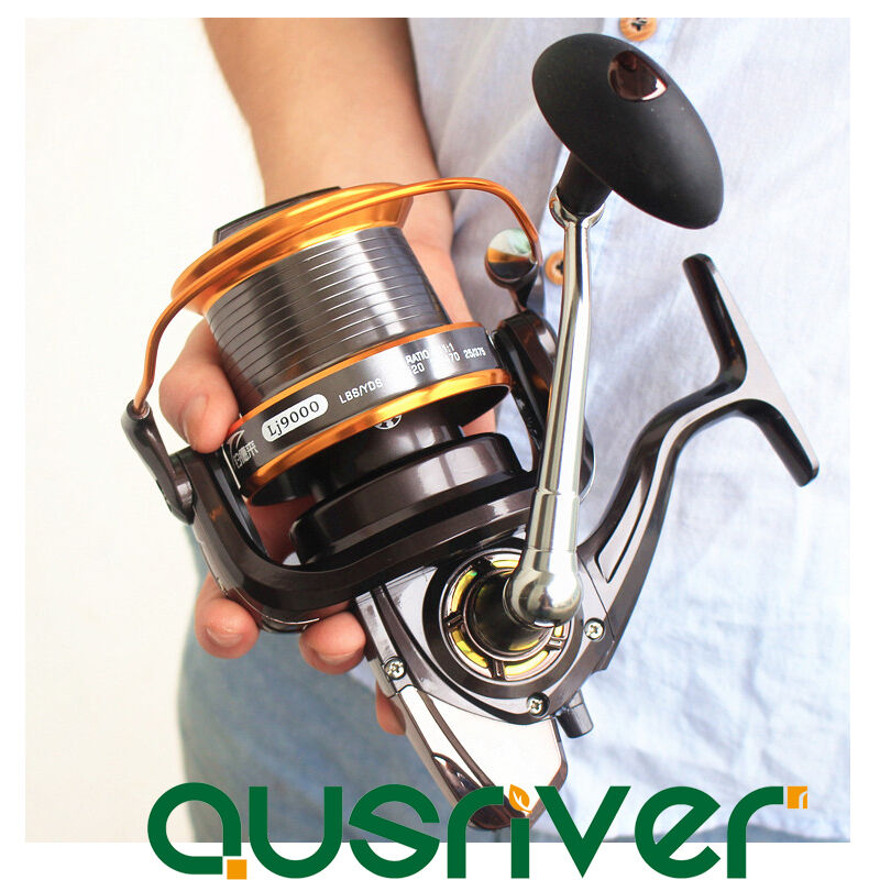 12+1BB Ball Bearing 9000 Spinning Reels Fresh Saltwater Surf