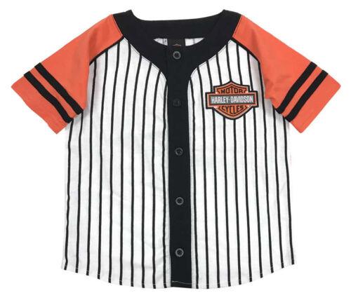 Harley-Davidson Big Boys/' Striped B/&S Raglan Baseball Jersey White 1091715
