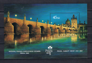Tschechien-2007-Block-26-Karlsbrucke-postfrisch