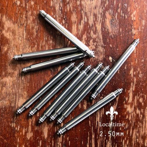 16-28 mm Sac de 10 Barrettes Ressort Pour Bracelets de montres en acier à double sertissage Télescopique