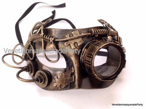 Steampunk Monocular Goggle Men eye Mask Halloween Costume Prom Midnight Party