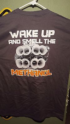 TEAM DIRT DOG RACING WAKE UP AND SMELL THE METHANOL T-SHIRT GRAY DIRT TRACK  | eBay