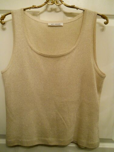 Gold Knit Shell Spectaculaire Metallic St John Sz Med avEqz