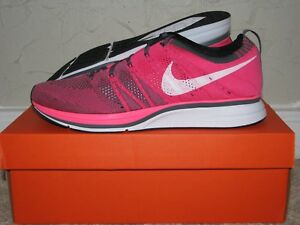 66035ab78ac44 Nike Flyknit Trainer + Pink Flash   White   Grey Mens Size 10 DS NEW ...