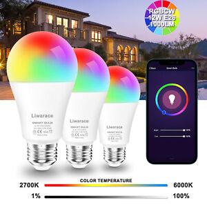 E26 Wifi Smart LED Light Bulb 12W(70W) RGBCW For Alexa Google Home /5W(50W) Bulb