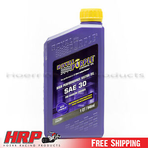 Image Is Loading Royal Purple 01030 Sae 30 Heavy Duty Synthetic