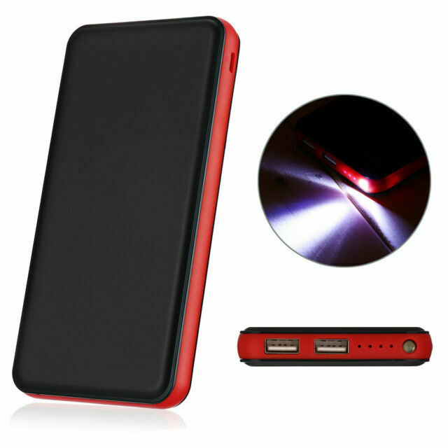 Aibocn 10000mAh Portable Power Bank External Battery Charger with Flashlight for Apple Phone iPad Samsung Galaxy Compatible with LG Smartphones Tablet Red