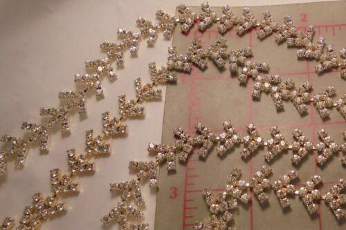 """18/"""" Vintage FlexibleTrim Crystal Rhinestones With Setting 16mm Austria"""