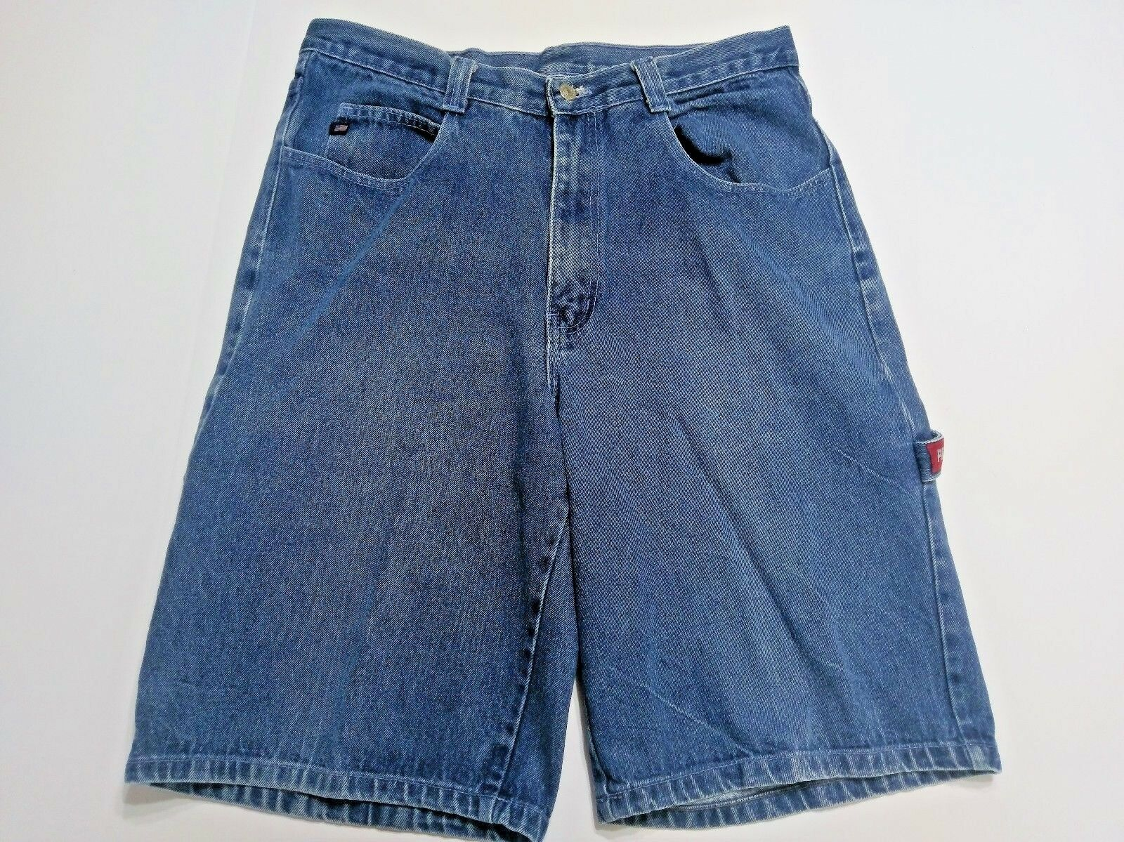 Polo Ralph Lauren Carpenter Denim Jean Shorts Men's 38 Flag Logo Medium Wash