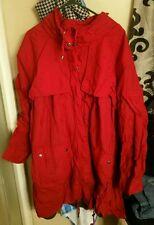 Womens Insulated Hooded All Weather Nylon Jacket/Coat, Red, Plus 5X,NEW