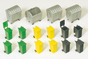 Preiser-17202-Conteneurs-Poubelles-Kit-De-Montage-H0