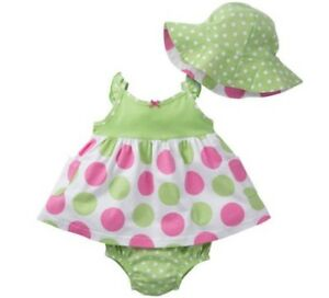 9849b4fdc5d Image is loading GERBER-BABY-GIRL-3-Piece-Set-Dress-Panties-