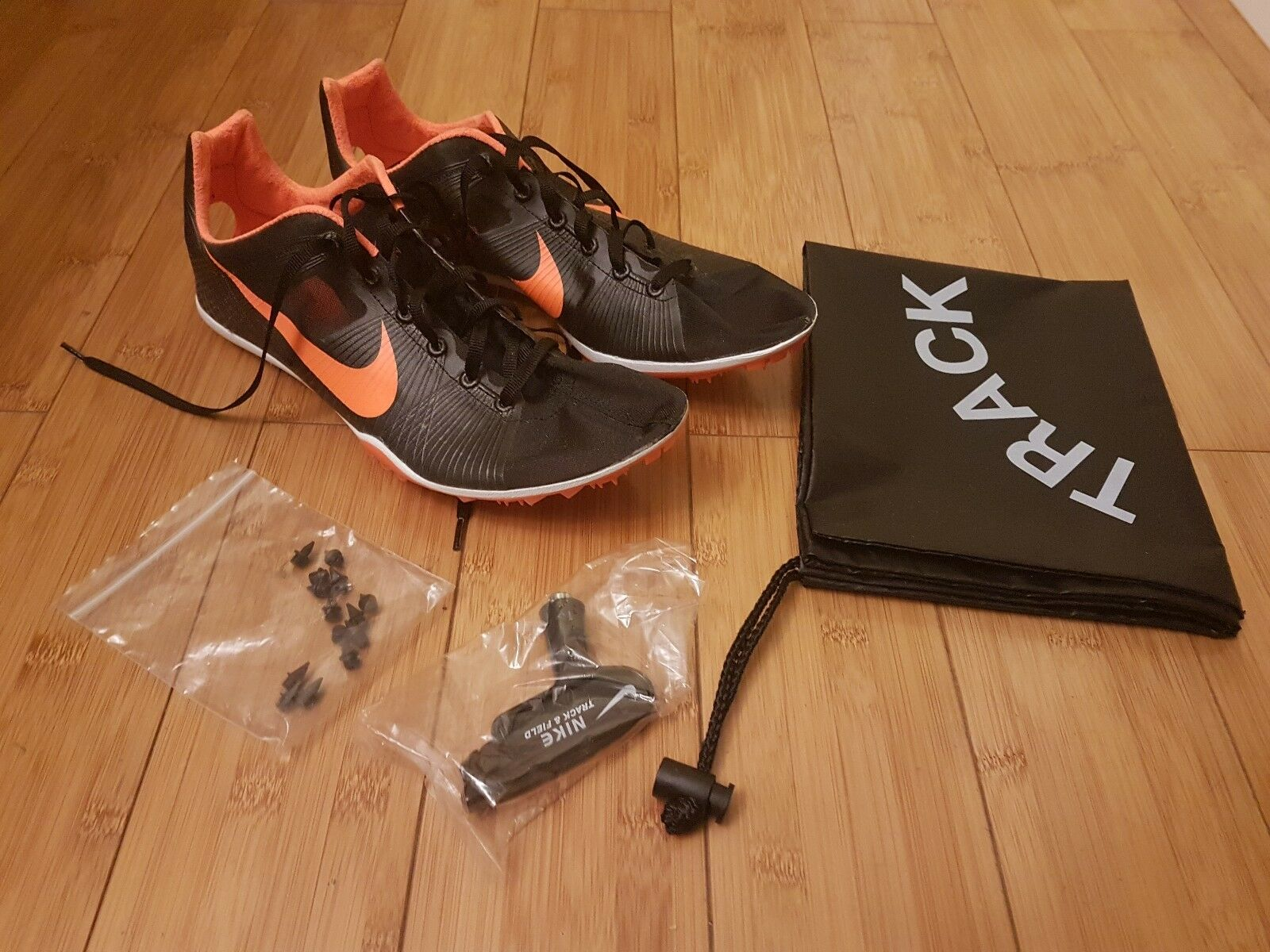 NEW Nike Zoom Victory [1, ORIGINAL] Size 9 Black orange
