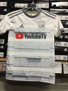 free shipping 34e4a fa604 Details about Adidas Lafc Youth Away Jersey (juvenil) White Silver Size  Youth Small