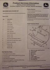 John Deere Installation Instructions for Single Spool Hydraulic Kit TCU16243 B9