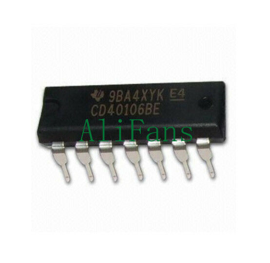 10PCS CD40106 CD40106BE 40106 HEX SCHMITT TRIGGER IC AF