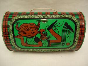 Vintage-Pippi-Longstocking-USSR-Tin-Lunch-Box-Toy-NORMA-Estonia