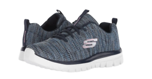 SKECHERS Graceful - Twisted Forture Women's Shoes Navy Blue 12614