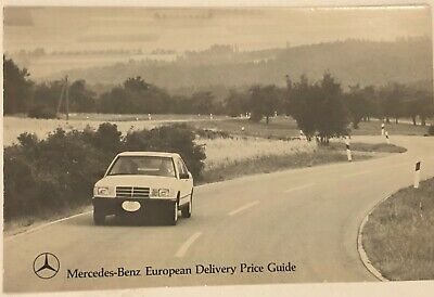 1984 Mercedes-Benz European Delivery Price Guide Vintage ...