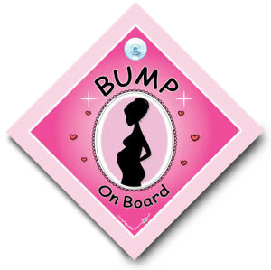 Bump on Board Car Sign, Baby on Board, Pregnant Lady On Board, Mum to Be Sign 797734375237