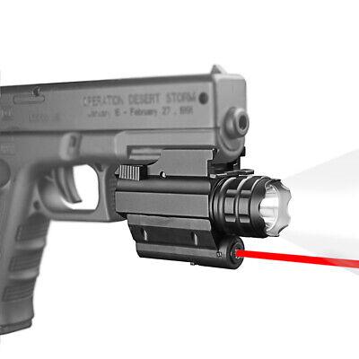 Tactical CREE LED Flashlight//light+Red Laser sight For pistol//gun Handgun Glock