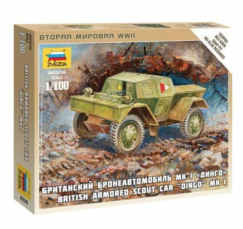 Zvezda #6229-1:100 Dingo Mk.1 British armored scout car