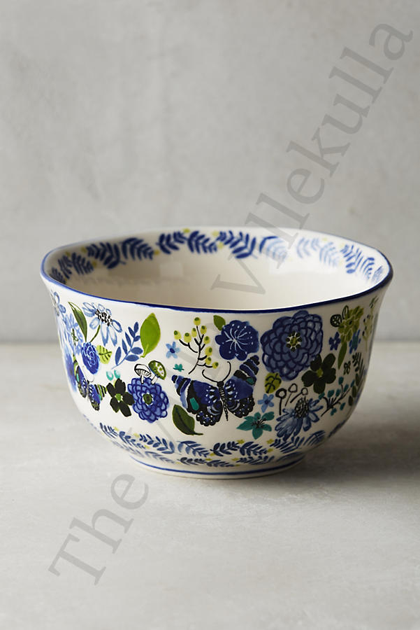 "1 New Anthropologie  Wing & Petal Bowl""  Butterfly Design   Sold Out"