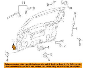 Liftgate Hatch Wedge Chevrolet Uplander 05 06 07 08 Gm Oem 25766856 Bn8 Ebay