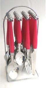 Bistro-Besteck-24-teilig-mit-Kunststoffgriffen-PLUS-Staender-Besteckset-2-Farben