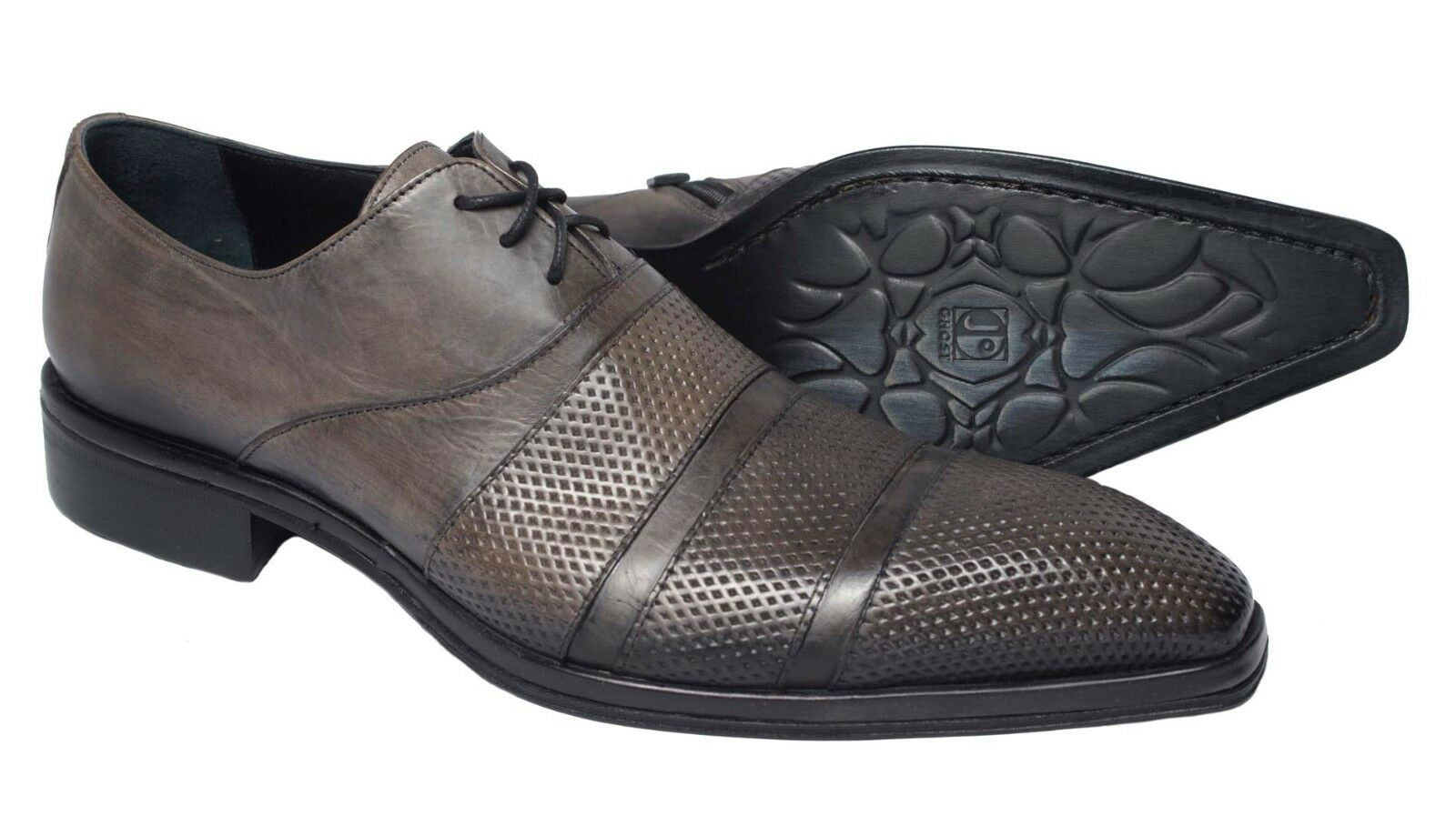 Ghost2701M   Italian men antique noir leather ankle chaussures with zipper and laces
