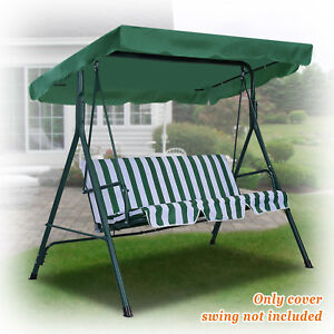 Details About New Patio Outdoor 77 X43 Swing Canopy Replacement Porch Top Seat Cover Only