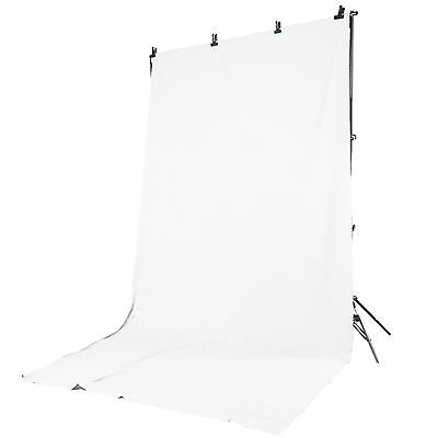 Kit Supporto Portafondali +Borsa +Fondale 3x6m Background Bianco x Studio Foto