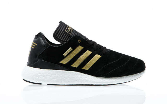 58a12690ca3fa adidas Busenitz Pure Boost 10 Year Anniversary Shoes Trainers Black Gold  White UK 8.5