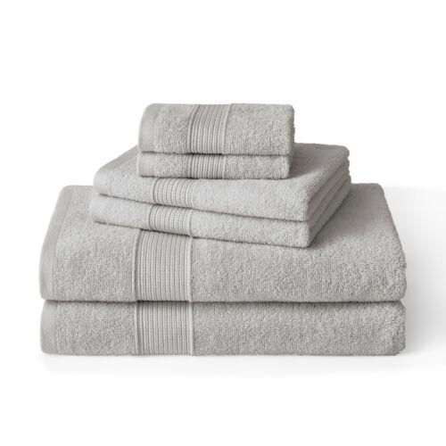 Brielle Home 6 Piece 100/% Turkish Cotton Towel Set