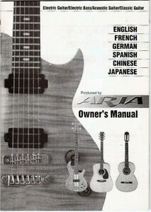 aria guitar owners manual good condition ebay rh ebay com au Acoustic Electric Guitar Acoustic Guitar Backgrounds